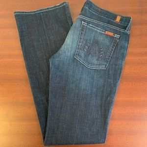 7 For All Mankind A Pocket Flare Sparkles on A